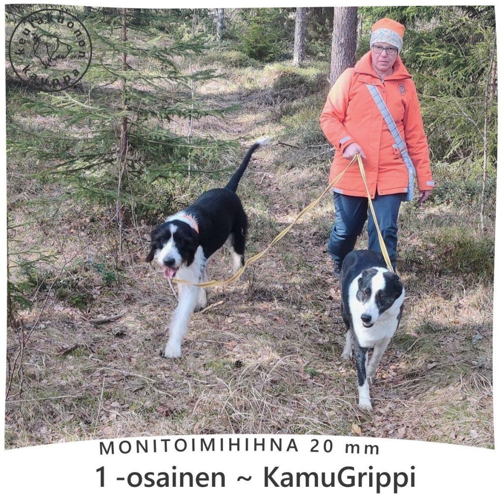 monitoimihihna-säädettävää pitoa ulkoiluun kahden koiran kanssa - LoimiTikki